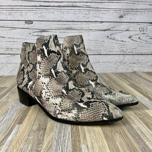 Halogen Snake Pointed Toe Ankle Booties Size 10